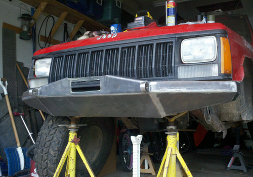 84 01 Jeep Cherokee Xj Front Winch Bumper Flatland4x4