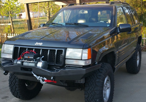 Jeep Grand Cherokee Off Road Bumper >> Mitch – ZJ Front Winch Bumper – Flatland4x4