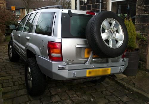 99 04 Jeep Grand Cherokee Wj Rear Bumper Tire Carrier