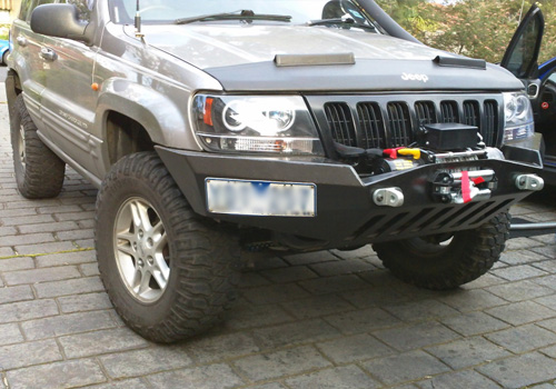 Jeep Grand Cherokee Off Road Bumper >> 99 04 Jeep Grand Cherokee Wj Front Winch Bumper Flatland4x4